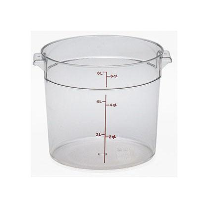 12PCE Camwear Food Storage Container Round 5.7L Clear (135) RFSCW6
