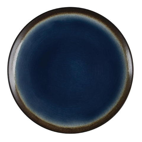 6PCE Olympia Nomi Round Coupe Plate Blue 255mm