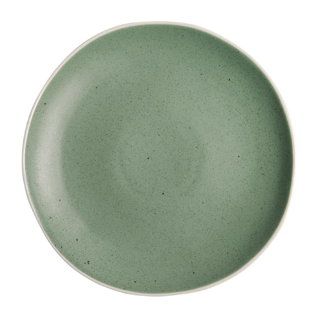 6PCE Olympia Chia Plates Green 270mm
