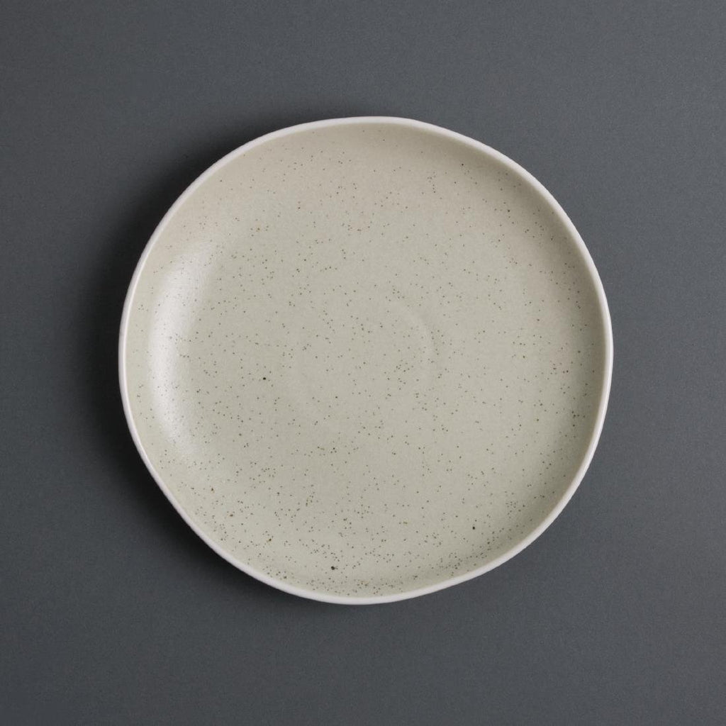 6PCE Olympia Chia Plates Sand 205mm