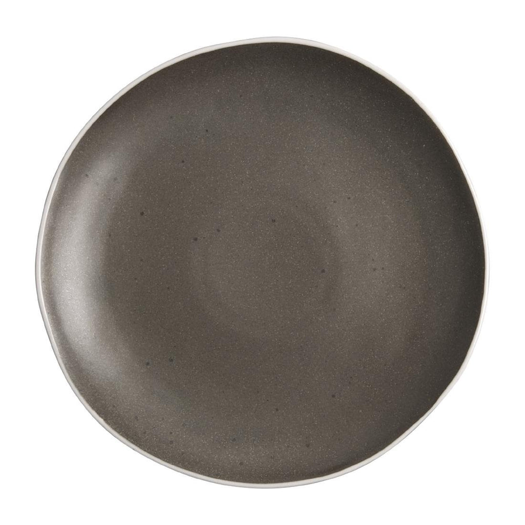 6PCE Olympia Chia Plates Charcoal 270mm