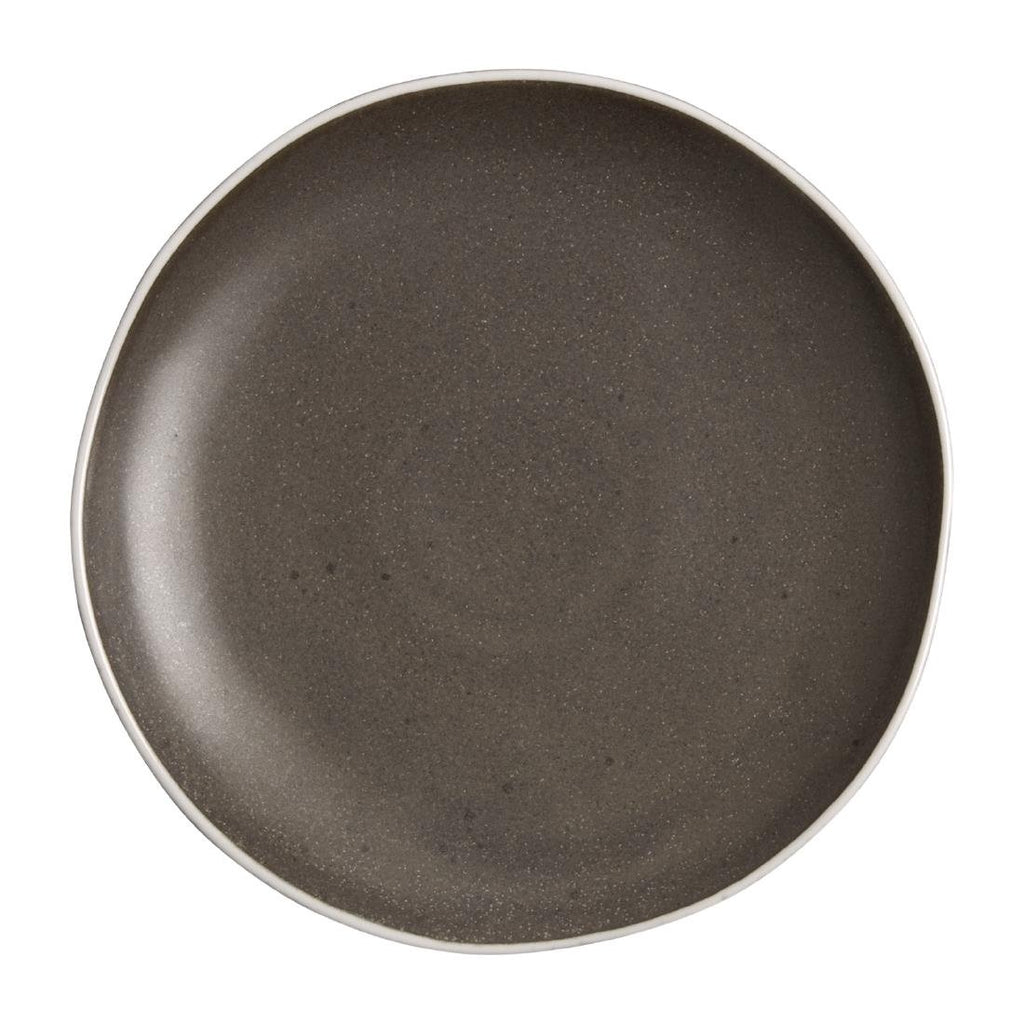 6PCE Olympia Chia Plates Charcoal 205mm