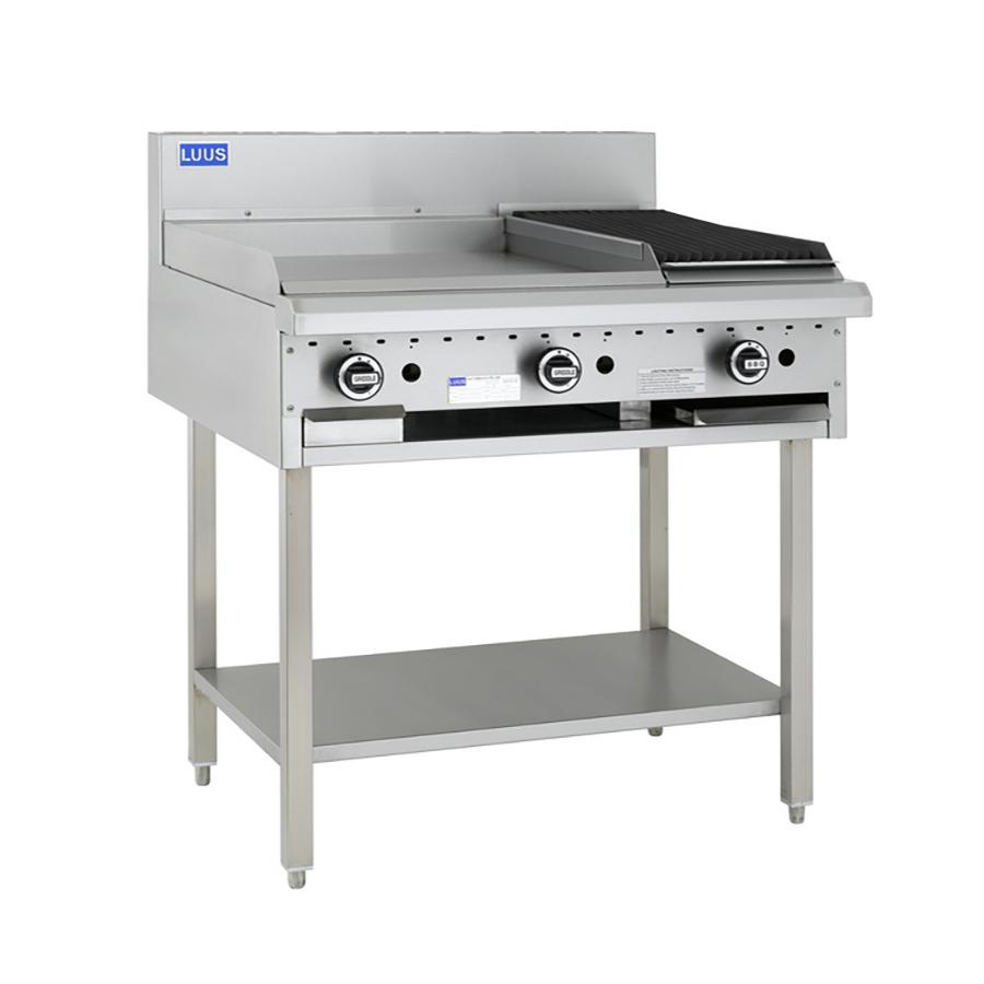 LUUS Essentials 600mm Griddle 300mm Chargrill BCH-6P3C