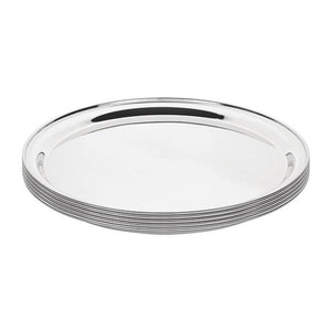 Olympia 405mm Stainless Steel Round Serving Tray