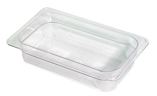 CAMBRO GN 1/4 FOOD PAN 65MM 1.7L - CLEAR 42CW135