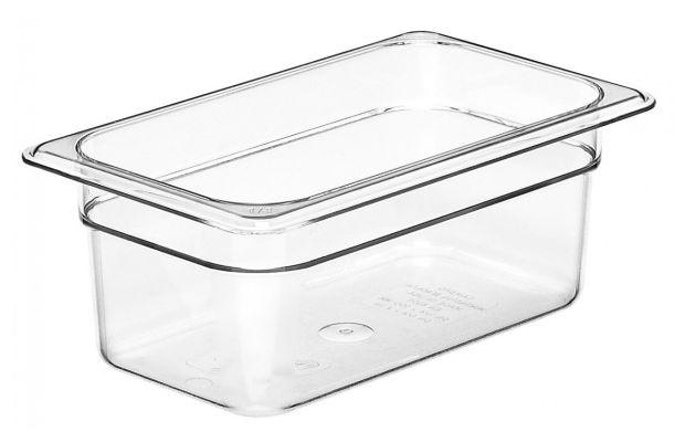 Cambro GN 1/4 Food Pan 100mm 2.5L - Clear 44CW135