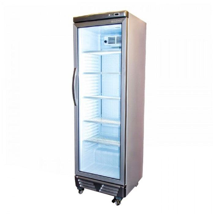 Bromic 372L Flat Glass Door Upright Display Chiller GM0374 LED ECO