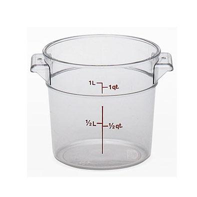 12PCE Camwear Food Storage Container Round .9L Clear (135) RFSCW1