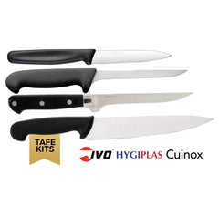 4 PCE Chef Knife TAFE Student Kits (Mixed Brands) - icegroup hospitality superstore