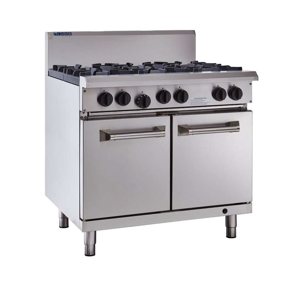 LUUS Professional 6 Burner Oven 900mm RS-6B