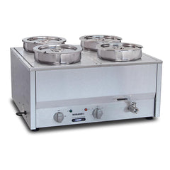 Roband Hot Bain Marie 4 x 1/2 Size Pans Single Row BM14A