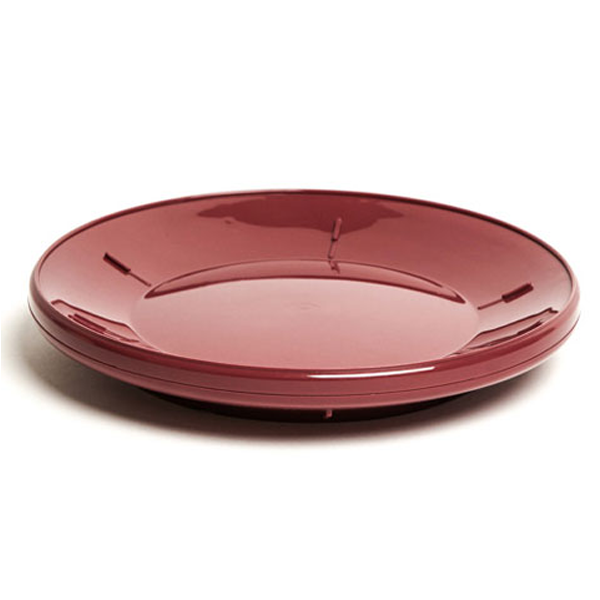 12PCE Ken Hands Plate Base Insulated Pp Burgundy (2) 98032