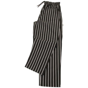 Whites Easy Fit Butchers Stripe Pants Black XL