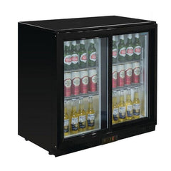 Polar G-Series Back Bar Cooler with Sliding Doors 208Ltr