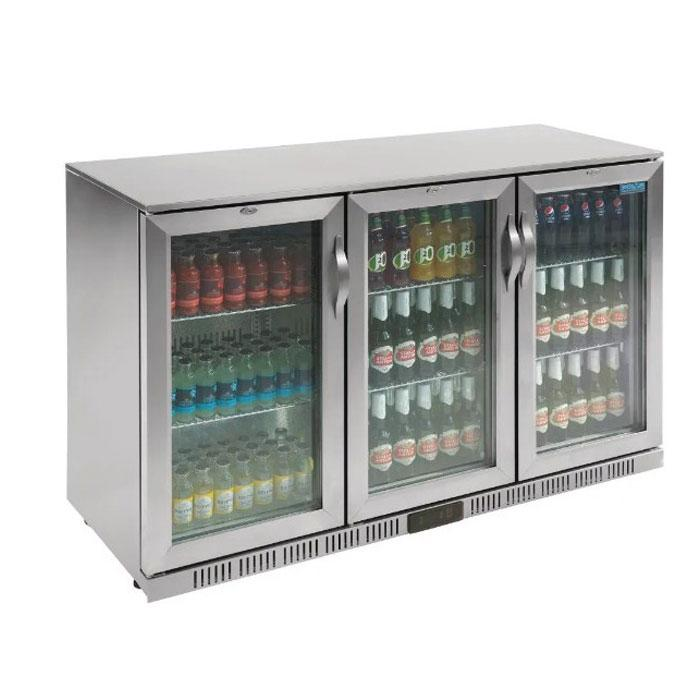 Polar 330L G-Series Back Bar Cooler with Hinged Doors Stainless