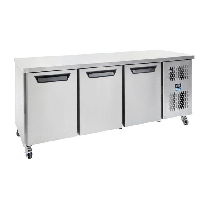Williams Topaz Three Door Underbench Freezer 475Ltr