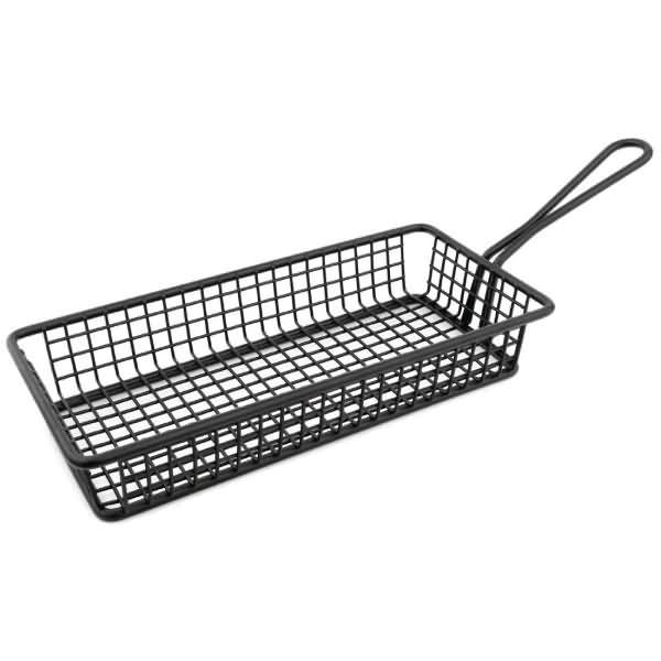 Olympia Mini Rectangle Presentation Basket Black - ICE Group