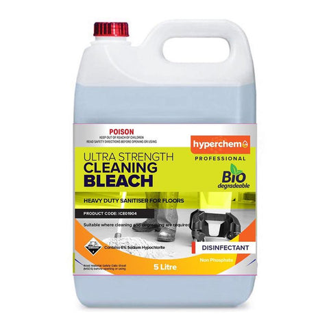 Hyperchem Ultra Strength Cleaning Bleach 5L 30002