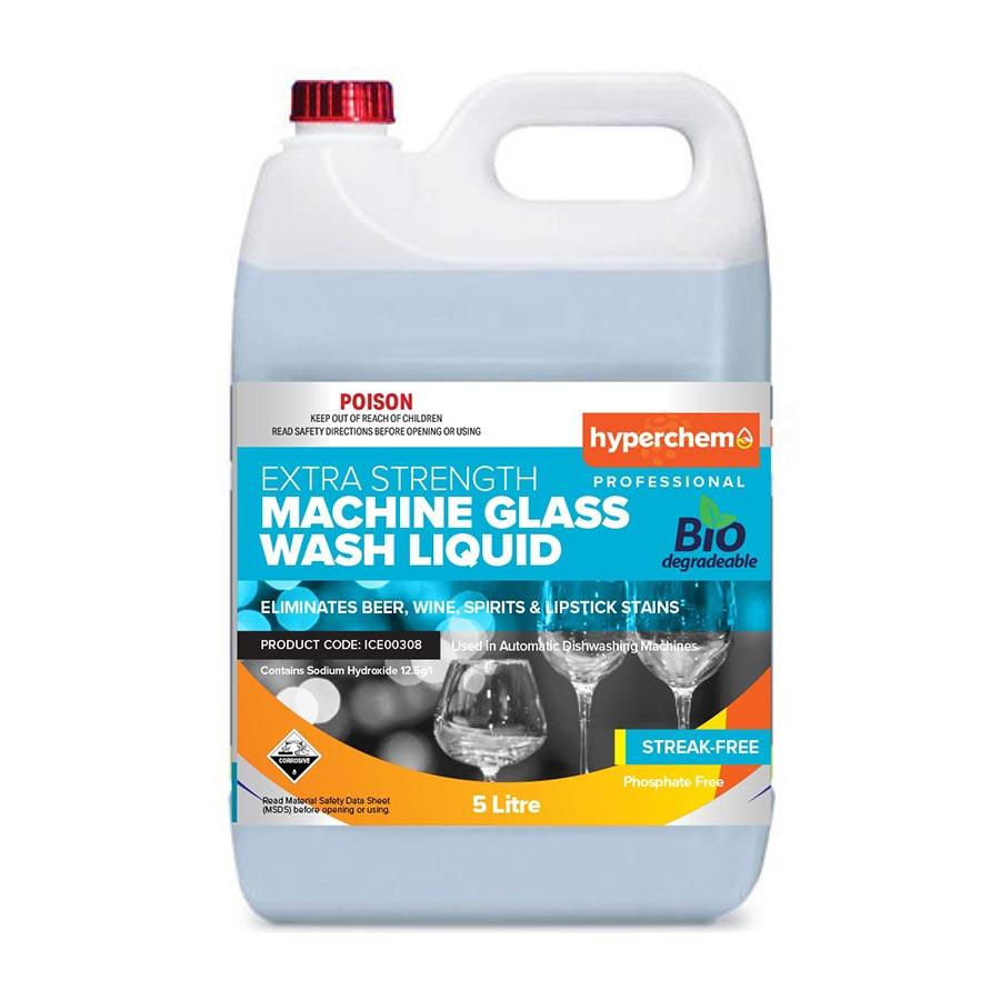 Hyperchem Machine Glass Wash Liquid 5L 13702