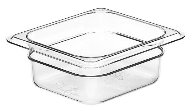 Cambro GN 1/6 Food Pan 65mm 1L - Clear