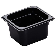 CAMBRO GN 1/6 FOOD PAN 100MM 1.5L - BLACK 64CW110 - icegroup hospitality superstore