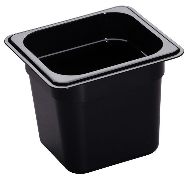 Cambro GN 1/6 Food Pan 150Mm 2.2L - Black 66CW110