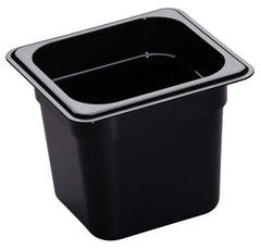 CAMBRO GN 1/6 FOOD PAN 150MM 2.2L - BLACK 66CW110 - icegroup hospitality superstore