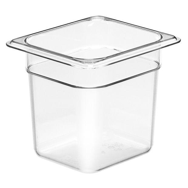 Cambro GN 1/6 Food Pan 150mm 2.2L - Clear 66CW135