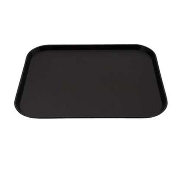 12PCE Chef Inox Plastic Tray 300x400mm Black 06985-BK