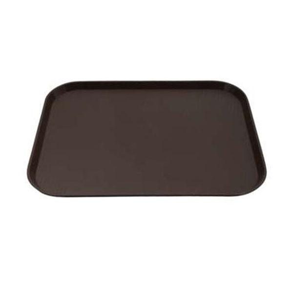 12PCE Chef Inox Plastic Tray 300x400mm Brown 06985-BN