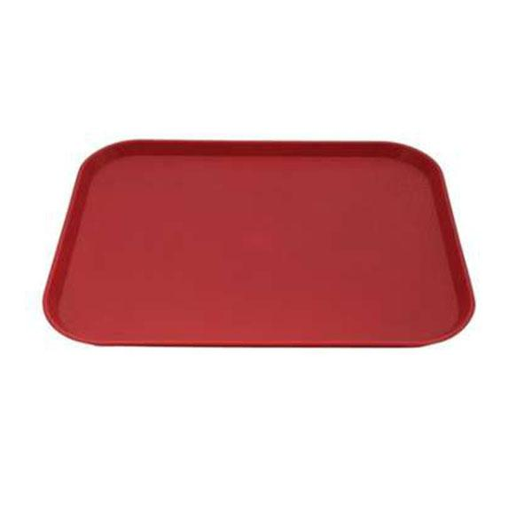 12PCE Chef Inox Plastic Tray 275x350mm Red 06984-R