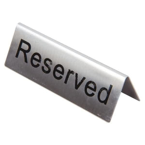10PCE Stainless Steel Table Sign - Reserved