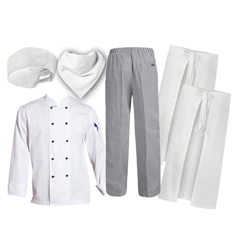 6 PCE Student Hospitality Uniform Kit (Chefscraft)