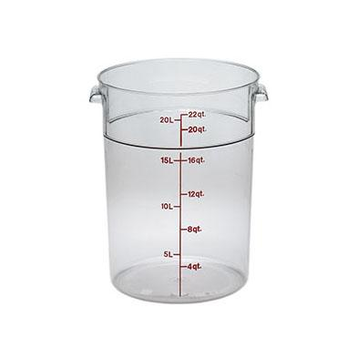 6PCE Camwear Food Storage Container Round 20.8L Clear RFSCW22
