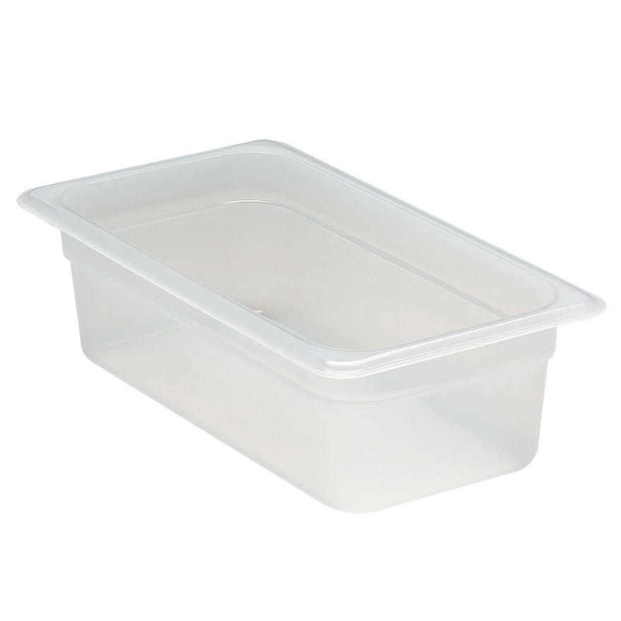 6PCE Cambro Food Pan GN 1/3 10cm 3.6L Translucent (190) 34PP