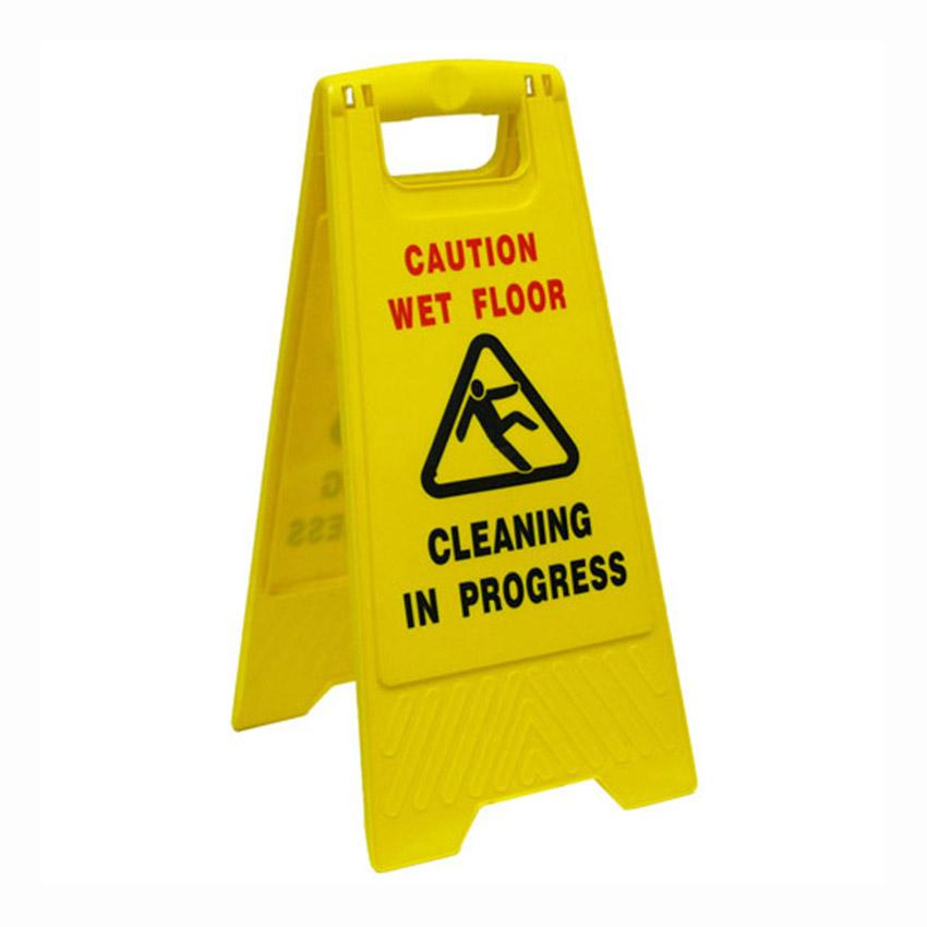 A-Frame 'Caution Wet Floor' Sign Yellow CSIGNWF - ICE Group