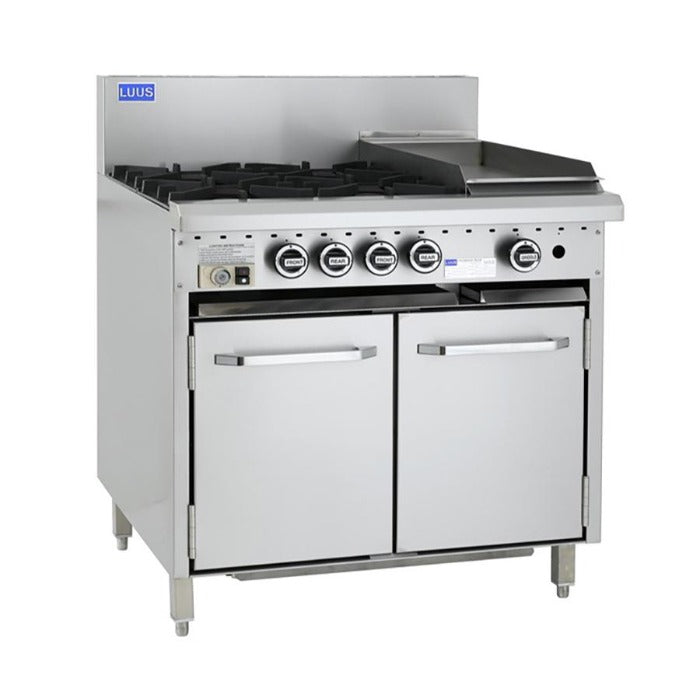 LUUS Essentials 4 Burner Griddle Oven 900mm CRO-4B3P