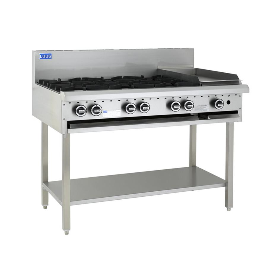 LUUS Essentials 6 Burner 300mm Chargrill Cooktop BCH-6B3C