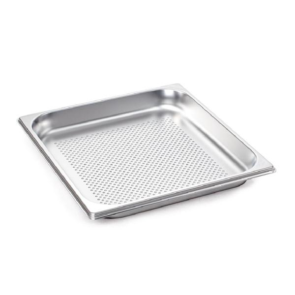 Rational Perforated S Steel 40mm Gastronorm Pan 2/3 GN 6015.2304 - ICE Group