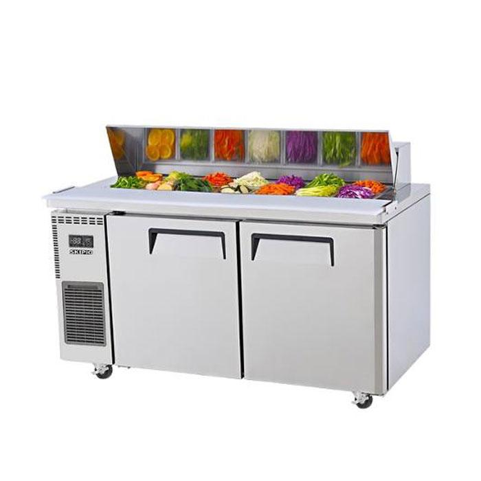 Skipio 309L Salad Side Prep Table With Hood Lid SHR12-2
