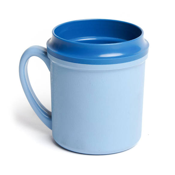 24PCE Ken Hands Beverage Mug Insulated Single Handle 250ml Blue