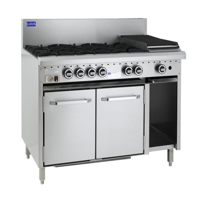 LUUS Oven 6 Burner Chargrill Oven 1200mm CRO-6B3C
