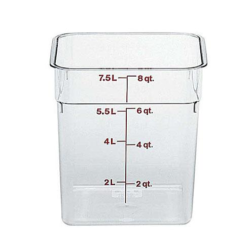 6PCE Camsquare Storage Container 7.6L Clear (135) 8SFSCW