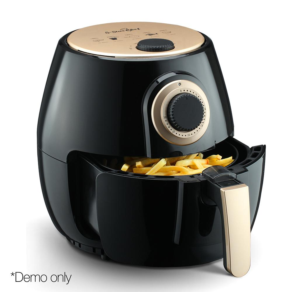 4L Oil Free Air Fryer Black