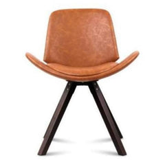 Artiss 2PCE PU Brown Leather Alexes Dining Chairs