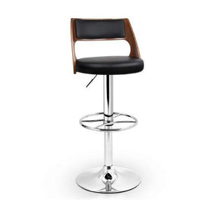 Artiss Black PU Leather Gas Lift Bar Stool - ICE Group HospitalityWarehouse