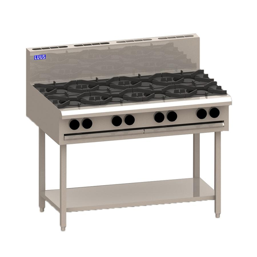 LUUS Essentials 8 Burner Gas Stove 1200mm BCH-8B