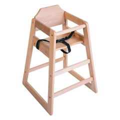Bolero Wooden Highchair Natural Finish