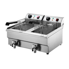 Devanti Double Pan Electric Deep Fryer 2 x 10L DR20