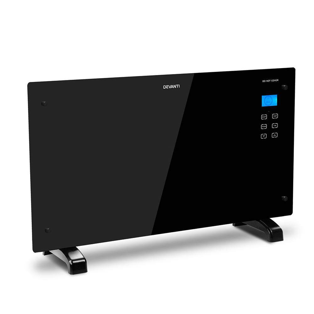 Devanti 2000W Tempered Glass LCD Panel Heater